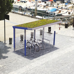 aureo velo green | Shelter with vegetative roof | Bus stop shelters | mmcité