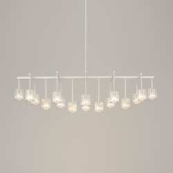 Flute Beam Chandelier 16-arm | Chandeliers | Tom Kirk Lighting