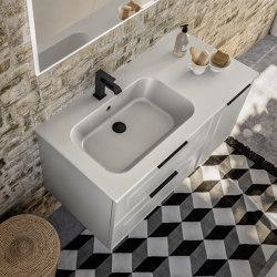 Ceramic washbasin Quadra | Wash basins | Berloni Bagno