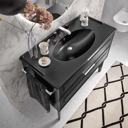 Ceramic washbasin Quadra Vintage | Wash basins | Berloni Bagno