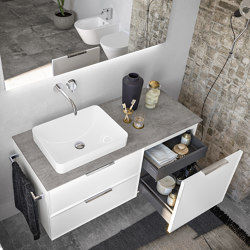 Semi-recessed washbasins Thin | Wash basins | Berloni Bagno