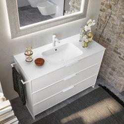 Washbasin in Mineralgloss and Mineralmatt Seta | Wash basins | Berloni Bagno