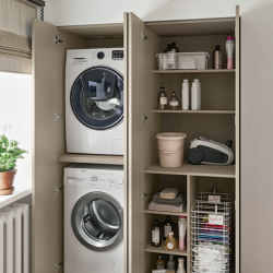 Suite Vintage Laundry | Vintage furniture collection for laundry room | Cabinets | Berloni Bagno