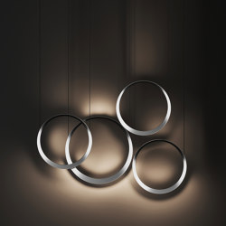 Moonlight suspension combination aluminium | Suspended lights | Quasar