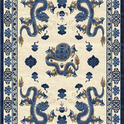 Chinoiserie | Temple Ceremony Chinese Blue | Rugs | Tapis Rouge