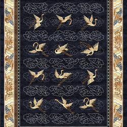 Chinoiserie | Manchurian Cranes Indigo | Rugs | Tapis Rouge