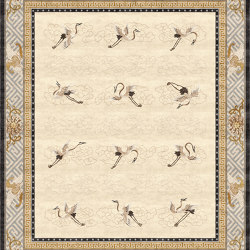 Chinoiserie | Manchurian Cranes Eggshell | Rugs | Tapis Rouge