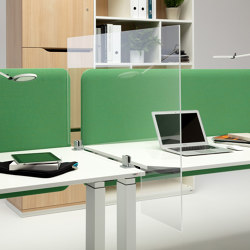 WINI Hygiene screen | L shape | Table dividers | WINI Büromöbel