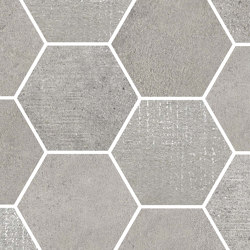 Loft Light Grey |  Esagona | Ceramic mosaics | Rondine