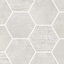 Loft White | Esagona | Ceramic mosaics | Rondine