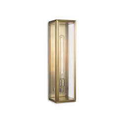Lantern | Ash Wall Light - Large - Antique Brass & Clear Glass | Wall lights | J. Adams & Co