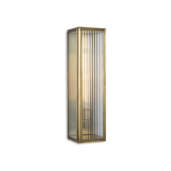 Lantern | Ash Wall Light - Large - Antique Brass & Clear Reeded Glass | Wall lights | J. Adams & Co