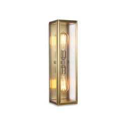 Lantern | Ash Wall Light - Large Twin Lamp - Antique Brass & Clear Glass | Wall lights | J. Adams & Co