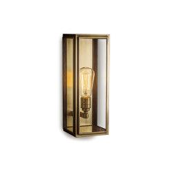 Lantern | Ash Wall Light - Medium - Antique Brass & Clear Glass | Wall lights | J. Adams & Co