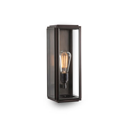Lantern | Ash Wall Light - Medium - Bronze & Clear Glass | Wall lights | J. Adams & Co