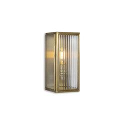 Lantern | Ash Wall Light - Small - Antique Brass & Clear Reeded Glass | Wall lights | J. Adams & Co