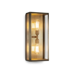 Lantern | Birch Wall Light - Large Twin Lamp - Antique Brass & Clear Glass | Wall lights | J. Adams & Co