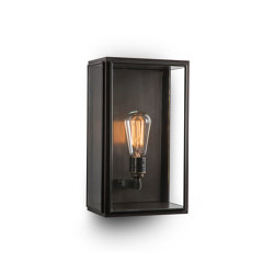 Lantern | Birch Wall Light - Medium - Bronze & Clear Glass | Wall lights | J. Adams & Co