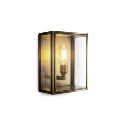 Lantern | Birch Wall Light - Small - Antique Brass & Clear Glass | Wall lights | J. Adams & Co