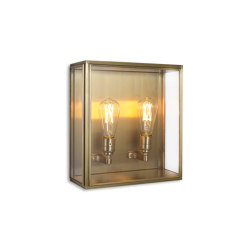 Lantern | Cedar Wall Light - Medium - Antique Brass & Clear Glass | Wall lights | J. Adams & Co