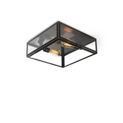 Lantern | Elm Ceiling Light - Large - Bronze & Clear Glass | Ceiling lights | J. Adams & Co