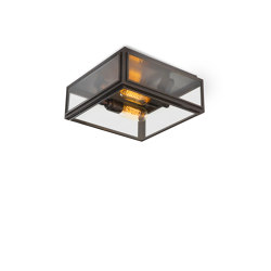 Lantern | Elm Ceiling Light - Small - Bronze & Clear Glass | Ceiling lights | J. Adams & Co