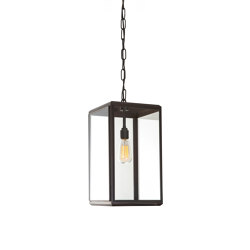 Lantern | Hazel Pendant Outdoor - Small - Bronze & Clear Glass | Suspended lights | J. Adams & Co