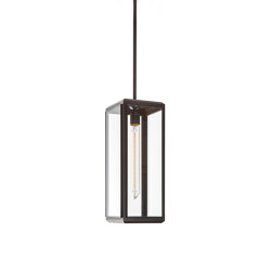Lantern | Lilac Pendant 1 - Tall - Bronze & Clear Glass | Suspended lights | J. Adams & Co