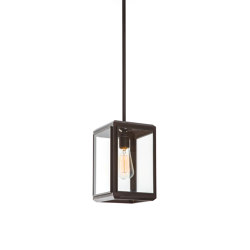 Lantern | Lilac Pendant 1 - Short - Bronze & Clear Glass | Suspended lights | J. Adams & Co