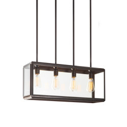 Lantern | Lilac Pendant 4 - Short - Bronze & Clear Glass | Suspended lights | J. Adams & Co