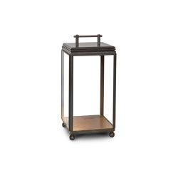 Lantern | Hazel Floor Light - Small, Mains powered - Bronze & Clear Glass | Floor lights | J. Adams & Co