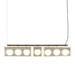Pearl | 3-1-3 Pendant - Satin Brass | Suspended lights | J. Adams & Co