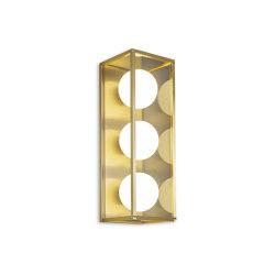 Pearl | Wall Light 3 - Satin Brass | Wall lights | J. Adams & Co
