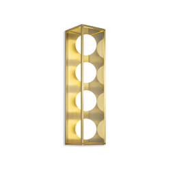 Pearl | Wall Light 4 - Satin Brass | Wall lights | J. Adams & Co