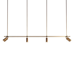 Spot | Pendant - 8 spots - 2000mm - Antique Brass | Suspended lights | J. Adams & Co