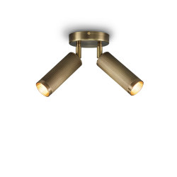 Spot | Double Ceiling Light - Antique Brass | Ceiling lights | J. Adams & Co