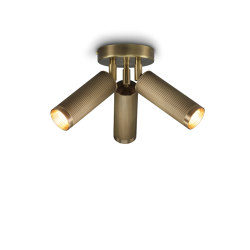 Spot | Triple Ceiling Light - Antique Brass | Ceiling lights | J. Adams & Co