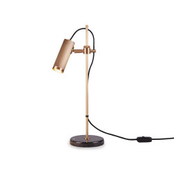 Spot | Desk Light - Antique Brass & Black Marble base | Table lights | J. Adams & Co