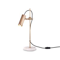 Spot | Desk Light - Antique Brass & White Alabaster base | Table lights | J. Adams & Co