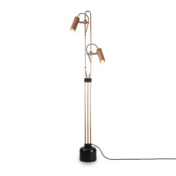 Spot | Floor Light - Antique Brass & Black Marble base | Free-standing lights | J. Adams & Co