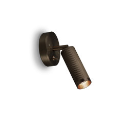Spot | Switched Wall Light - Bronze | Wall lights | J. Adams & Co