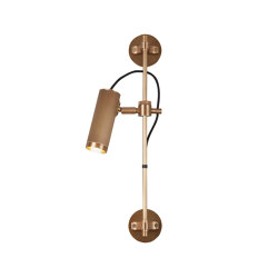 Spot | Wall Rail - Single Head - Antqiue Brass | Wall lights | J. Adams & Co
