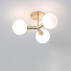 Stem Sconce/Ceiling 3X (4.5 In Glass) | Ceiling lights | SkLO