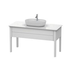 Luv Vanity unit for console floor-standing | Wash basins | DURAVIT