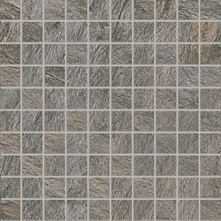 Anthology Stone Mosaico Dark Grey | Ceramic mosaics | EMILGROUP