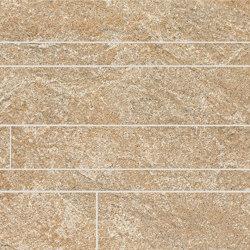 Anthology Stone Mosaico Listelli Sfalsati Gold | Mosaicos de cerámica | EMILGROUP