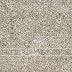 Anthology Stone Mosaico Listelli Sfalsati Grey | Mosaicos de cerámica | EMILGROUP