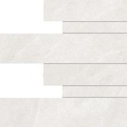 Cornerstone Slate White Listelli Sfalsati | Ceramic mosaics | EMILGROUP