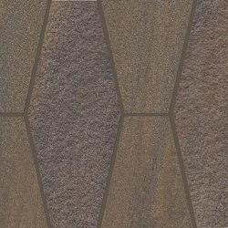 Elegance Mosaico Mix Exagon Brown | Ceramic mosaics | EMILGROUP