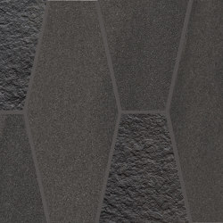 Elegance Mosaico Mix Exagon Antracite | Ceramic mosaics | EMILGROUP